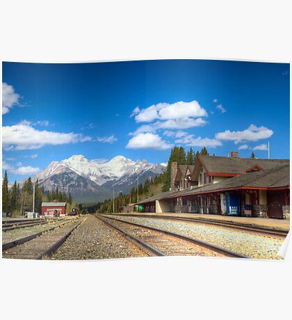 Banff railroad station Poster