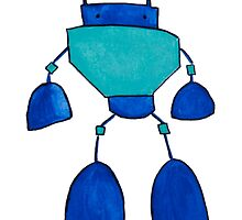Big Blue Robot by Stacey Roman