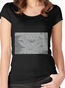 lily pad Women's Fitted Scoop T-Shirt