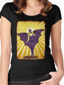 Golden Vintage Bat Elixir Women's Fitted Scoop T-Shirt