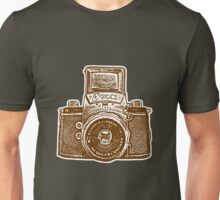 Giant East German Camera - Brown Unisex T-Shirt