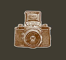 Giant East German Camera - Brown Unisex T-Shirt
