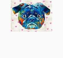 Pug Love Dog Art by Sharon Cummings Unisex T-Shirt