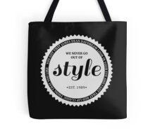 STYLE (white). Tote Bag