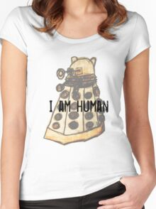 I Am Human Women's Fitted Scoop T-Shirt