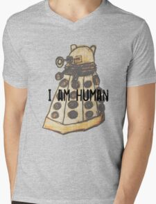I Am Human Mens V-Neck T-Shirt