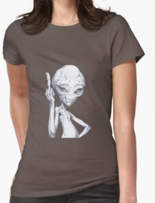 Paul - the alien Womens Fitted T-Shirt