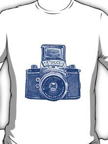 Giant East German Camera - Navy Blue T-Shirt