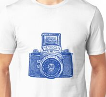 Giant East German Camera - Navy Blue Unisex T-Shirt