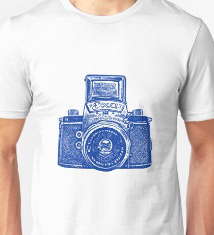 Giant East German Camera - Navy Blue Unisex T-Shirt