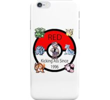 Red - Kicking Ass Since 1996 iPhone Case/Skin