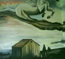 Mural-Stormbringer. by Gillian Ussher