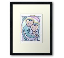 """Embrace"" - a couple's love Framed Print"