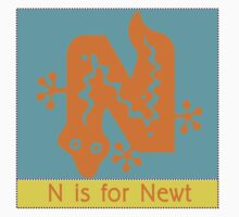 Newt Animal Alphabet by Zehda