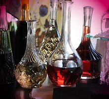 Decantor's And Glasses by Kathleen Struckle