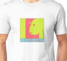 Lamb Animal Alphabet Unisex T-Shirt