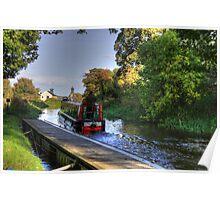 Narrow Boat at Strawberry Bank Poster