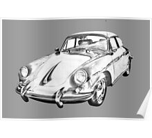 1962  Porsche 356 E Illustration Poster