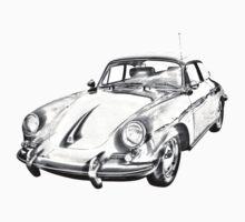 1962  Porsche 356 E Illustration Kids Tee