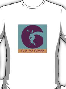 Giraffe Animal Alphabet T-Shirt