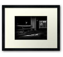 no exit... Framed Print