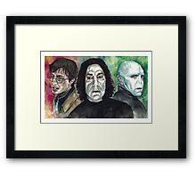 The Deathly Hallows Framed Print