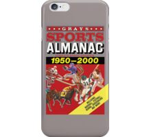 Grays Sports Almanac Complete Sports Statistics 1950-2000 iPhone Case/Skin