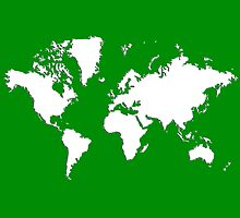 World Splatter Map - wgreen by Mark McKinney