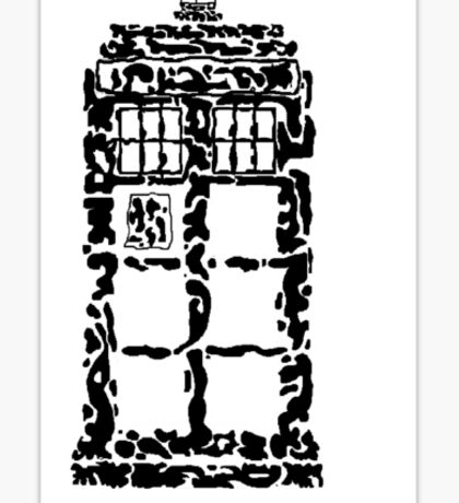 Abstract Dr. Who TARDIS Sticker