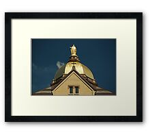 Golden Dome-University of Notre Dame Framed Print