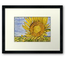 sunflowers painting Framed Print