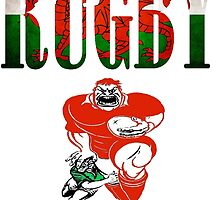 Rugby Wales T Shirts, Stickers and Other Gifts by zandosfactry