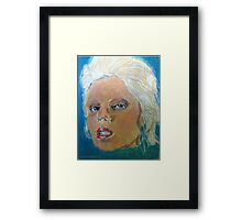 Angela Bowie expressionist painting Framed Print