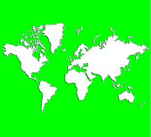 World Splatter Map - wtrue green by Mark McKinney