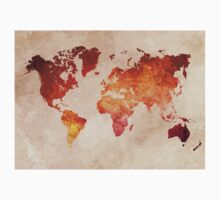 Map of the world Red World Kids Clothes