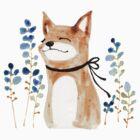 Fox and Flower by jjsgarden