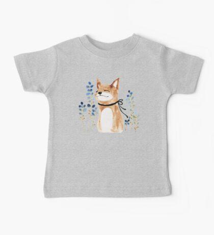 Fox and Flower Baby Tee