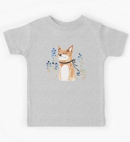 Fox and Flower Kids Tee