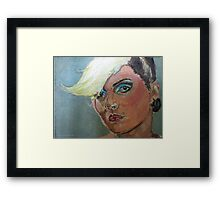 Debbie Harry expressionist Painting  Framed Print