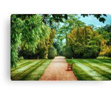 Green Formal Garden Canvas Print