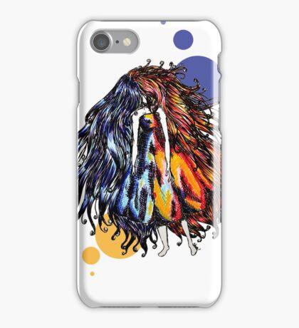 Hot & Cold Faceless girl iPhone Case/Skin