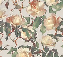 Soft Vintage Rose Pattern by micklyn
