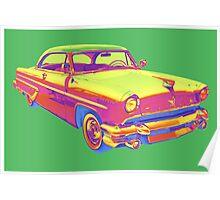 1955 Lincoln Capri Luxury Car Pop Art Poster