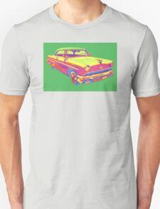 1955 Lincoln Capri Luxury Car Pop Art T-Shirt