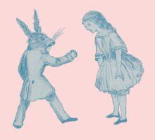 Alice and the White Rabbit Kids Tee