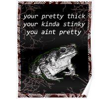 Stinky slimy frog Poster