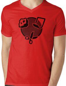 Rock Paper Scissors Mens V-Neck T-Shirt