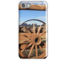 Wagon Wheel at Monument Valley  iPhone Case/Skin