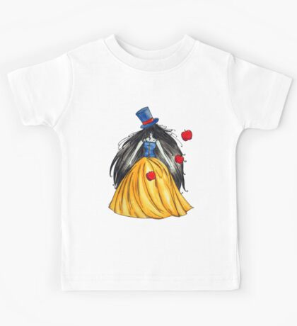 Who is the mad hatter ? Snow White   Blanche Neige  Kids Tee