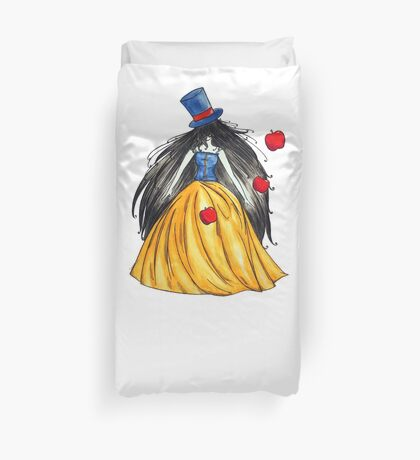Who is the mad hatter ? Snow White | Blanche Neige  Duvet Cover
